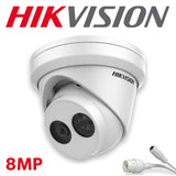 Hikvision DS-2CD2383G0-I 8.0MP 4K UltraHD Exir Dome/Turret Camera 4.0mm, IR, IP67 Weatherproof