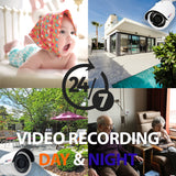 AMSECU 4K 8CH SMART SECURITY CAMERA SYSTEM W/ 6 x 4K 8MP 3.6MM BULLET CAMERAS