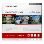 Hikvision DS-7608NI-Q2/8P 4K NVR Bundle w/ 6 x Hikvision DS-2CD2343G0-I 4MP 2.8mm Fixed Turret IP Camera