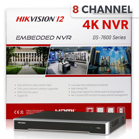 Hikvision DS-7608NI-I2/8P 8 Channel 4K Network Video Recorder