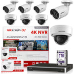 Hikvision DS-7616NI-Q2/16p 4K NVR Bundle w/ 4 x Hikvision DS-2CD2143G0-I 2.8mm Dome + 4 x Hikvision DS-2CD2043G0-I 4.0mm Bullet IP Cameras