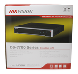 Hikvision 16CH H.265 4K 8MP DS-7716NI-K4/16P POE NVR Network Video Recorder with 4TB Hard Drive