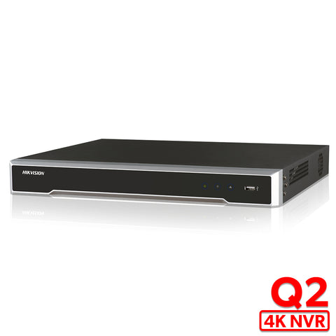 DS-7608/7616NI-Q2 Network Video Recorder Embedded Plug & Play 4K NVR