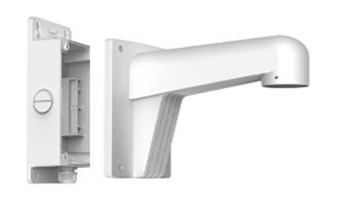 Wall Mount Long Arm with back bracket, WML-B, universal use for IP Cameras, choose from different pendant caps to meet your camera model