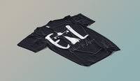 White on Black 'ETL' Tee