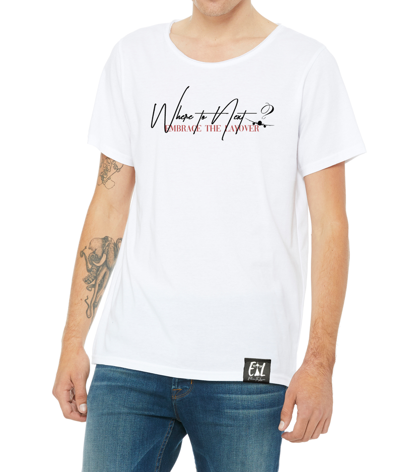 Men's Raw Neck 'WTN' T-Shirt