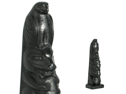 "Black Stone Totem Eagle 5.5"" Height"