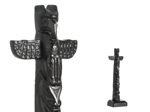 Black Stone Totem - Thunderbird 6 inches Height