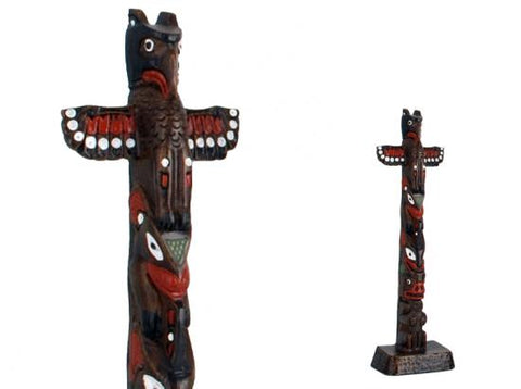 Totem Pole -Thunderbird, Whale and Bear. 8-1/2""