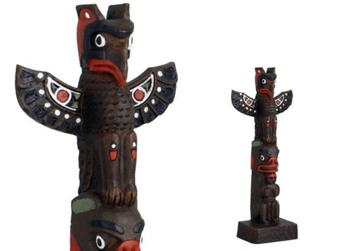 Totem Pole: Thunderbird, Bear and Woman 8 1/2""