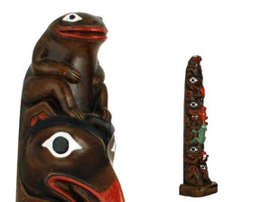 Totem Handpainted Chapman Pole - 12 1/2 inches