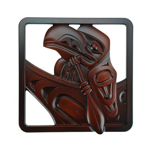 Raven Travelling Wall Art / Trivet by Andrew Williams