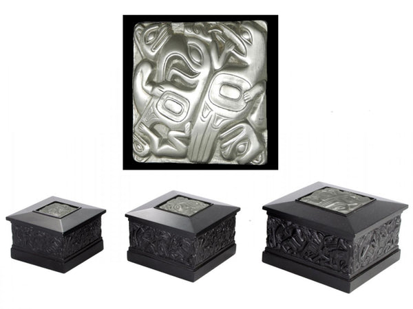 Native Box-with Pewter, Square
