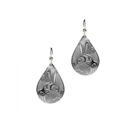 "Teardrop Earrings ""Hummingbird """