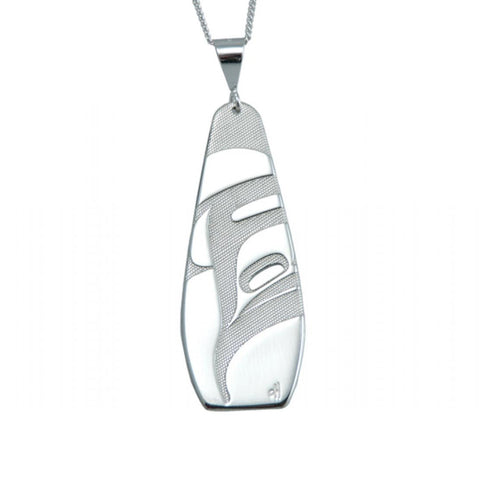 Native Silver Art Necklace - Killer Whale (Sea)