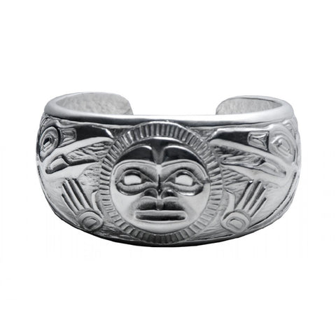 Raven and Sun Silver Bracelet by Bill Helin