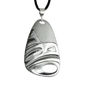 Native Silver Pewter Eagle Pendant