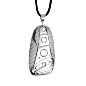 Native Silver Pewter Orca Pendant