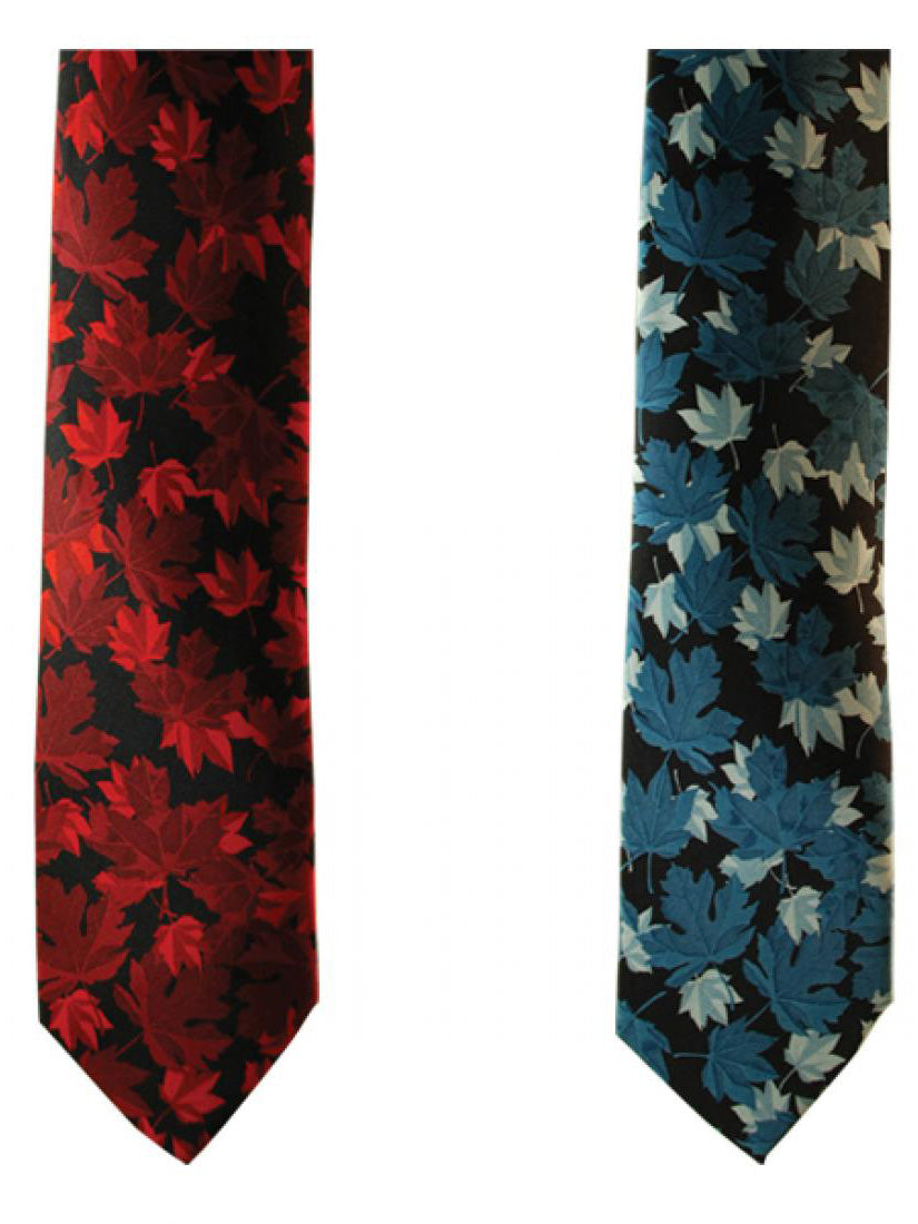 Maple Leaves Boxed Silk Tie