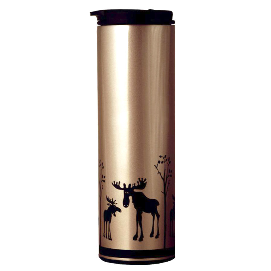 Insulated Stainless Steel Tumbler - Moose