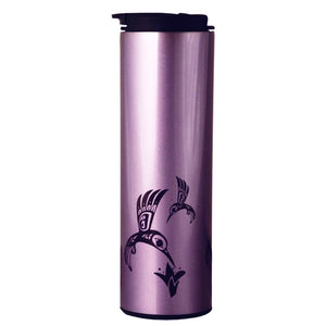 Insulated Stainless Steel Tumbler - Bill Helin, Hummingbird, Purple