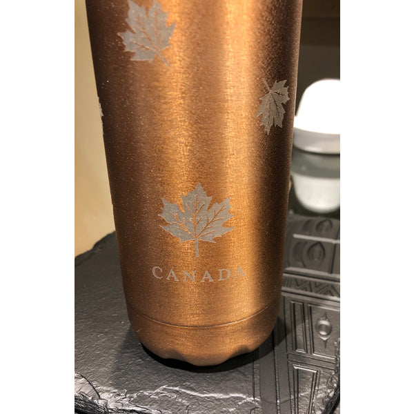 Maple Leaf Gold Ice Insulated Water Bottle