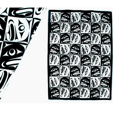 Klatle-Bhi Salmon Tea Towel