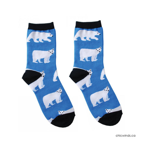 Cotton Socks - Polar Bear (blue)