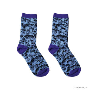 Cotton Socks - Orca by Kelly Robinson (Lilac)