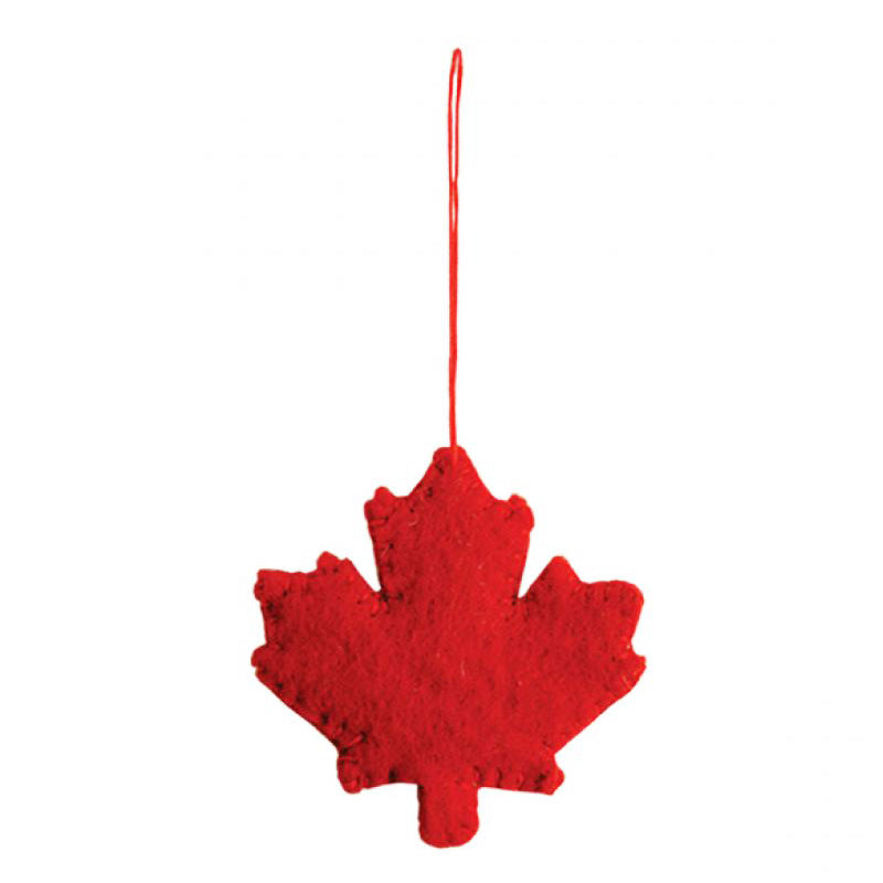 Handmade Felted Maple Leaf Ornament