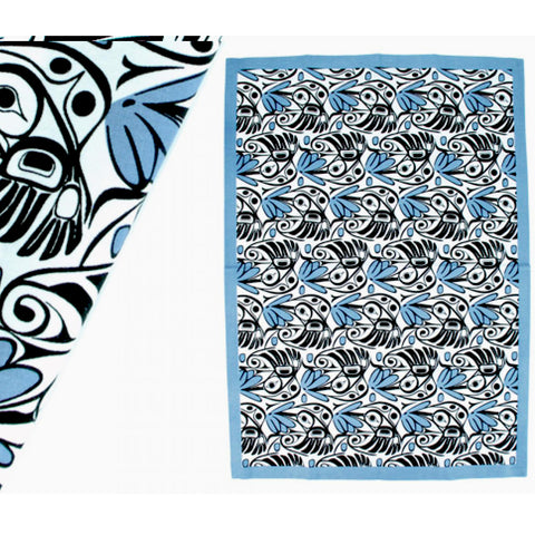 Bill Helin Hummingbird Tea Towel (Sky Blue)