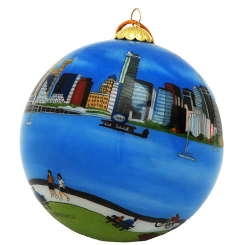 Boxed inside hand painted Christmas Ball Ornament - Vancouver