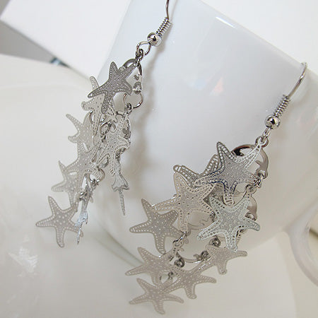 Star fish filigree earrings