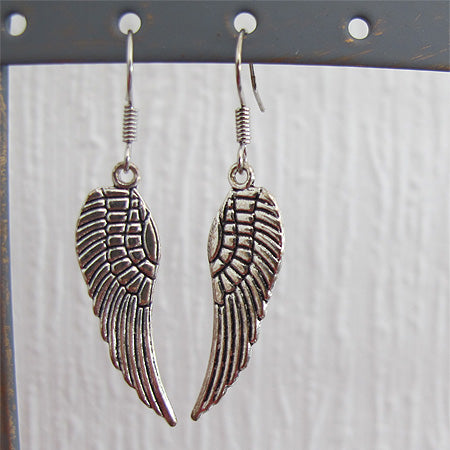 Angel Wings Drop Earrings