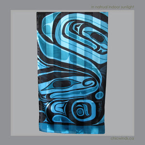 "Native Art Scarf  ""Wolf"""