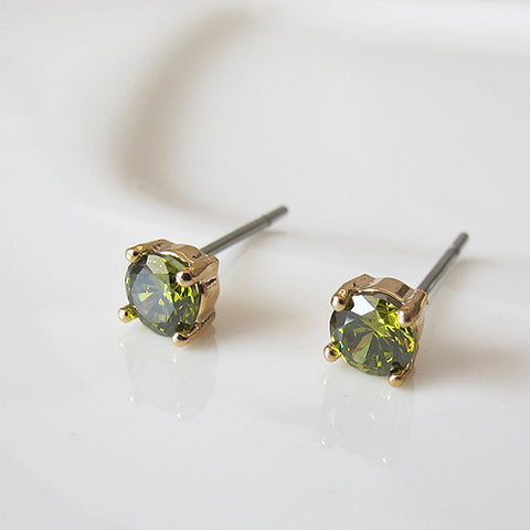 Peridot Spark Earrings