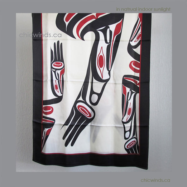 Dorothy Grant Native Art Silk Scarf - Eagle ( classic )