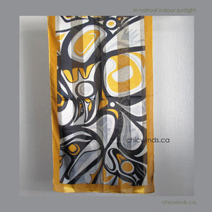 Bill Helin Raven Scarf (Gold)
