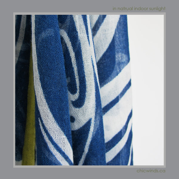 Connie Dickenson Native Art Wool Scarf/Wrap -Raven