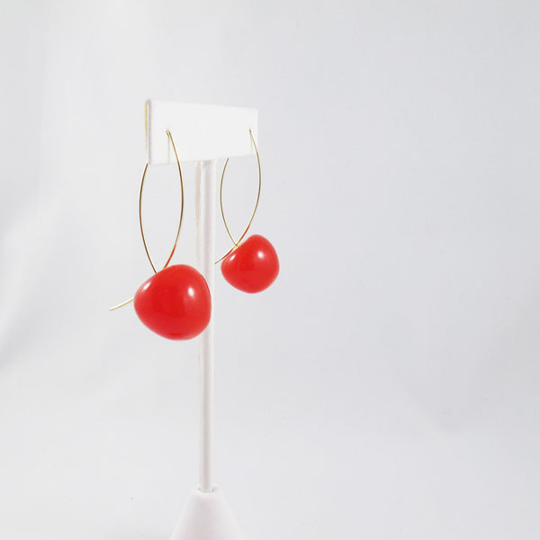 Amelia Cherry Drop Earrings