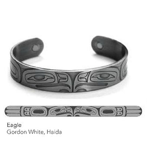 Silver Copper Bracelet: Eagle