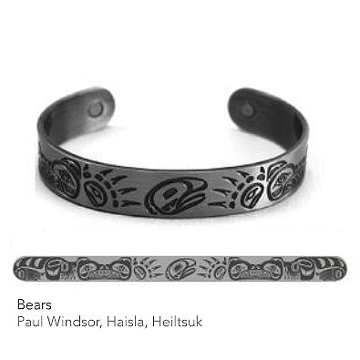 Silver Copper Bracelet: Bears