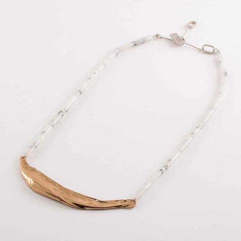 Anne Marie-Marble Necklace: Lavane
