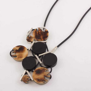 Statement Walnut Necklace: Sila