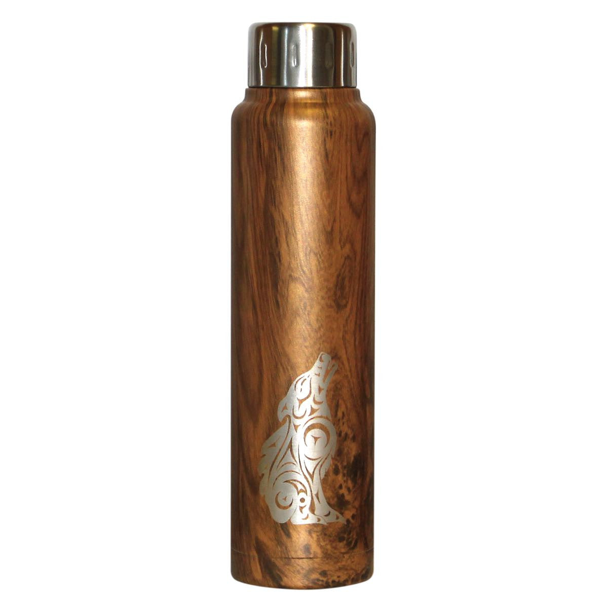 Insulated Stainless Steel Totem Bottle - Wolf by Darrell Thorne