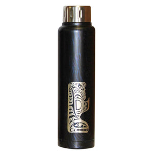Insulated Stainless Steel Totem Bottle - Thunderbird and Whale by Maynard Johnny Jr.