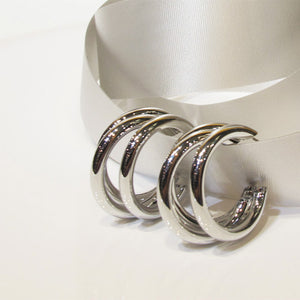 Triple Hollow Hoop Earrings