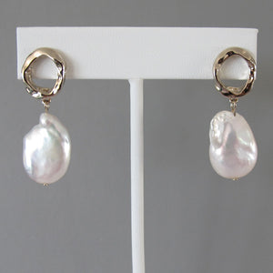 Timeless  Baroque Pearl Earrings