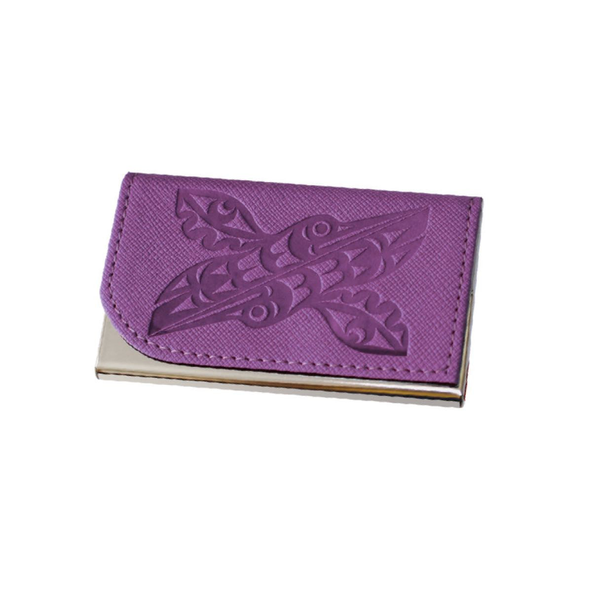Card Holder - Hummingbirds by Maynard Johnny Jr.(purple)