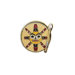 Enamel -Pin - Sun Drum